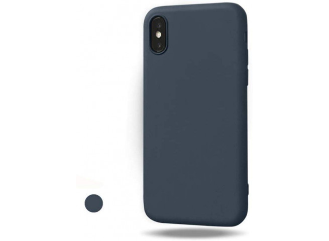 Coque iPhone XS Max Blue Navy Matte Flex