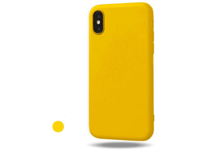 Coque iPhone X/XS Yellow Matte Flex