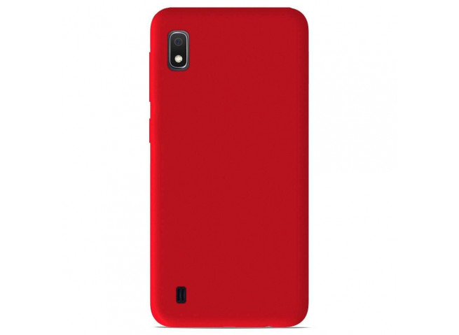 Coque Samsung Galaxy A10 Red Matte Flex
