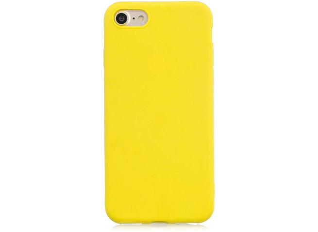 Coque iPhone 5/5S/SE Yellow Matte Flex
