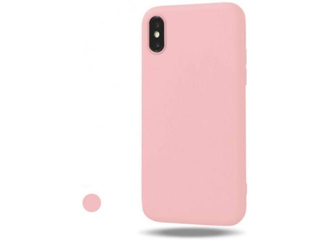 Coque iPhone X/XS Light Pink Matte Flex