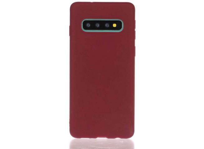 Coque Samsung Galaxy S10 Burgondy Matte Flex