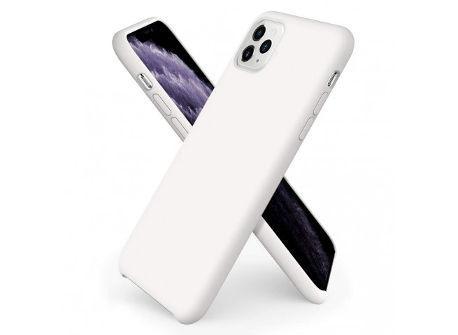 Coque iPhone 11 Silicone Gel-Blanc
