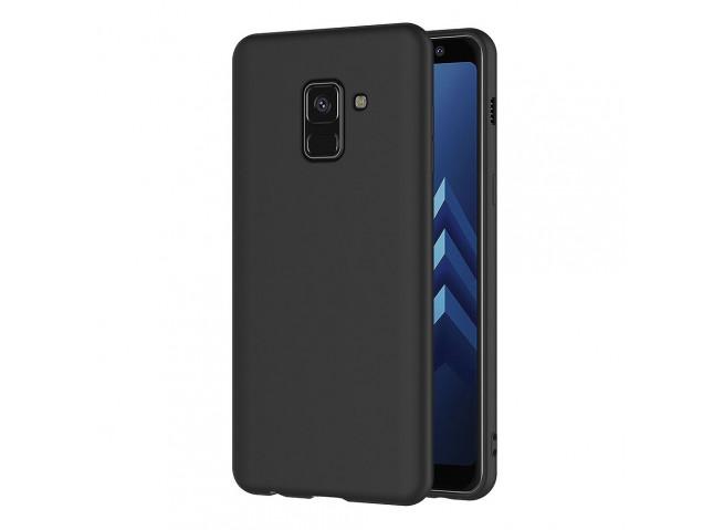 Coque Samsung Galaxy A8 2018 Black Matte Flex