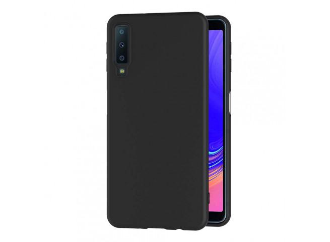 Coque Samsung Galaxy A7 2018 Black Matte Flex