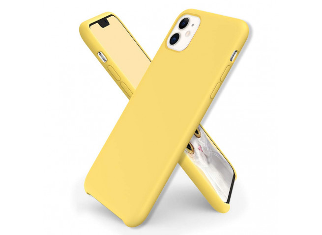Coque iPhone 11 Yellow Matte Flex