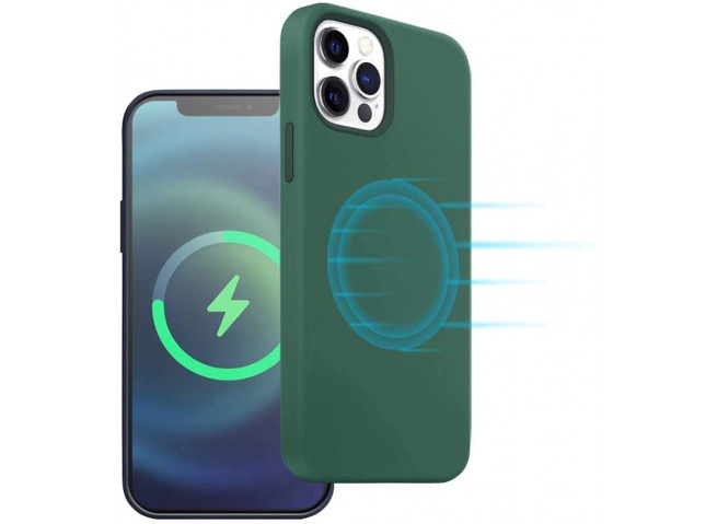 Coque iPhone 12 Pro TPU Compatible MagSafe-Vert
