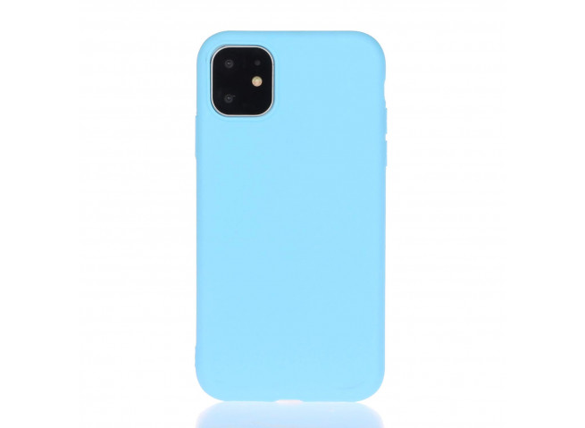 Coque iPhone 11 Sky Blue Matte Flex