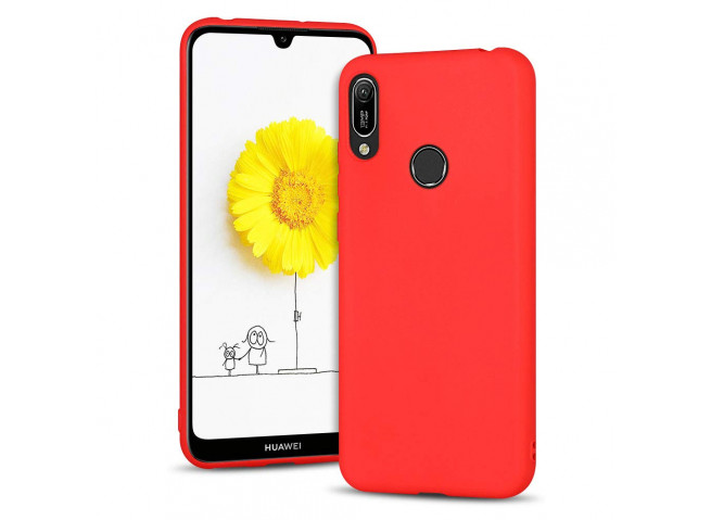 Coque Huawei Y6 2019 Red Matte Flex
