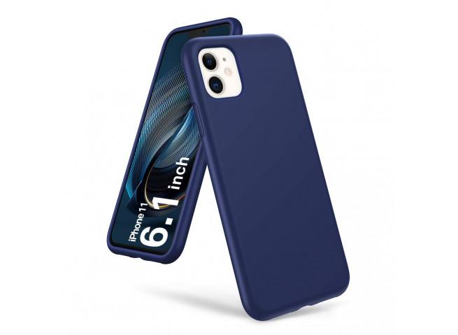Coque iPhone 11 Blue Navy Matte Flex