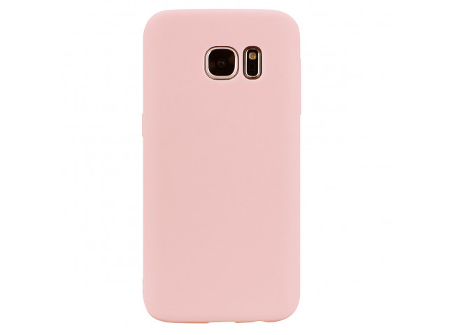 Coque Samsung Galaxy S7 Light Pink Matte Flex
