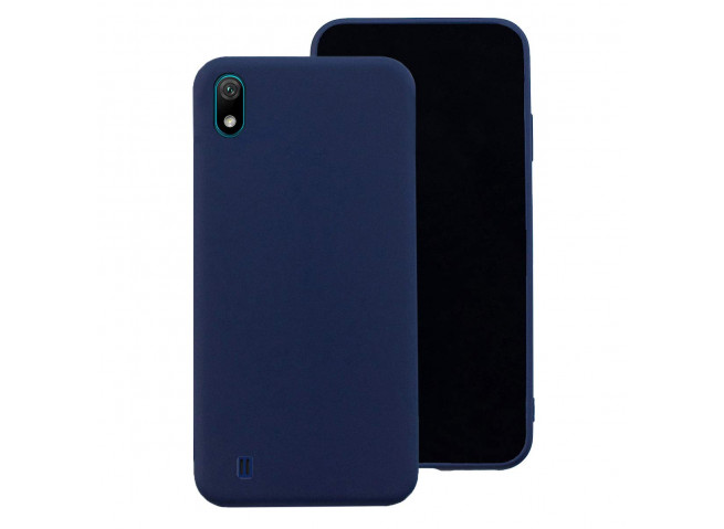 Coque Samsung Galaxy A10 Blue Navy Matte Flex