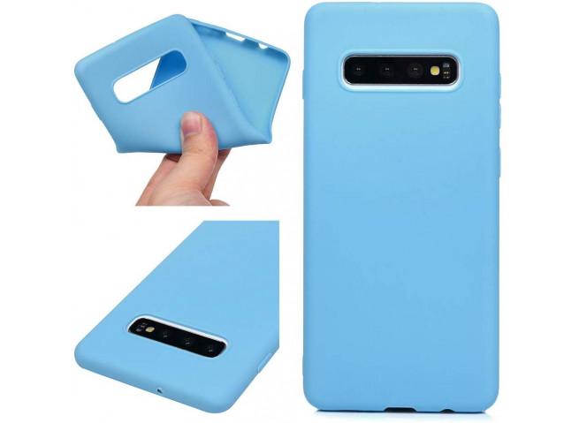 Coque Samsung Galaxy S10 Sky Blue Matte Flex
