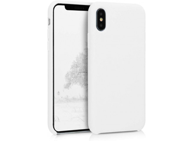 Coque iPhone X/XS White Matte Flex