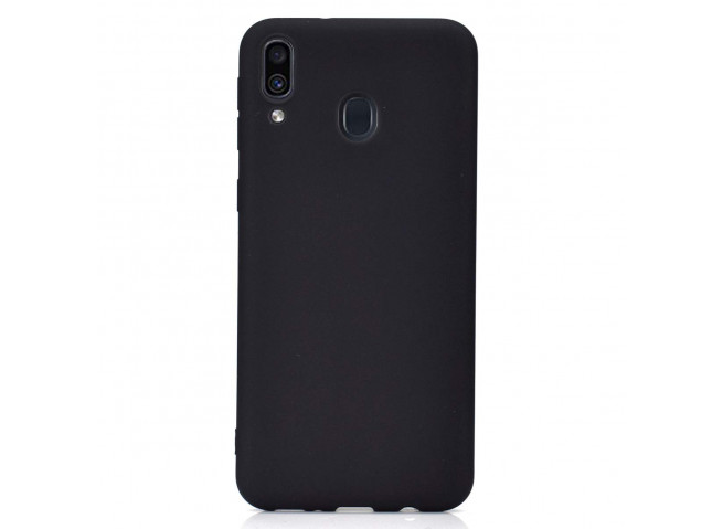 Coque Samsung Galaxy A30 Black Matte Flex