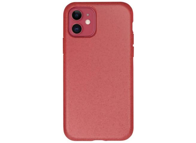 Coque iPhone 12 Mini Silicone Biodégradable-Rouge