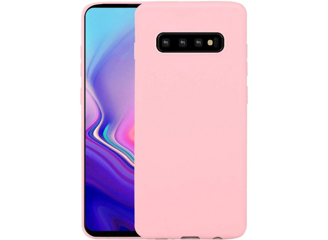 Coque Samsung Galaxy S10 Light Pink Matte Flex