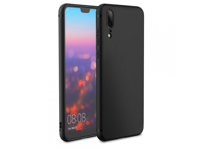 Coque Huawei P20 Black Matte Flex