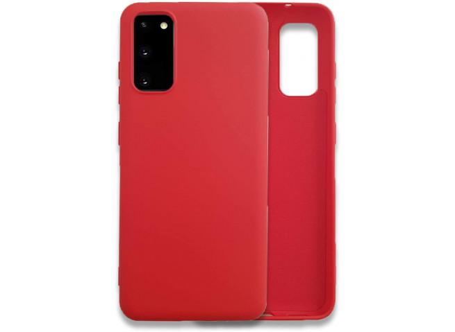 Coque Samsung Galaxy S20 Red Matte Flex
