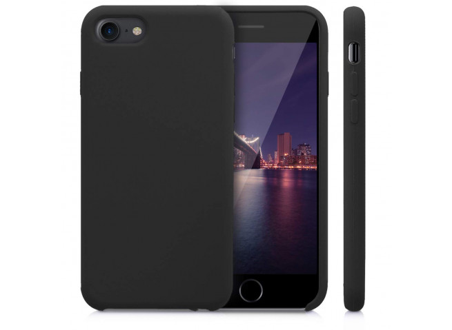 Coque iPhone 7/8 Silicone-Noir