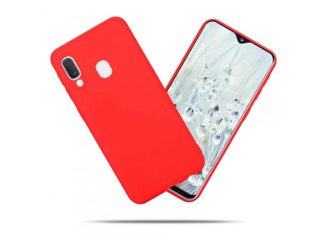 Coque Samsung Galaxy A20e Red Matte Flex