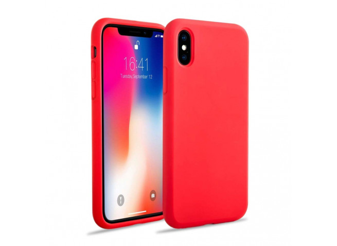 Coque iPhone X/XS Red Matte Flex