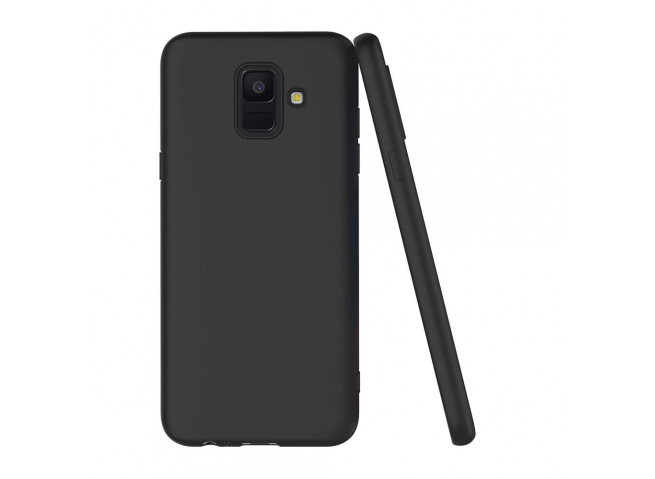 Coque Samsung Galaxy A6 2018 Black Matte Flex