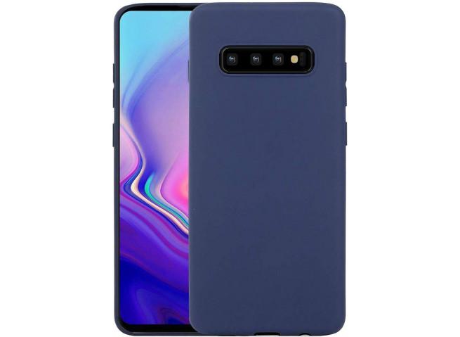 Coque Samsung Galaxy S10 Blue Navy Matte Flex