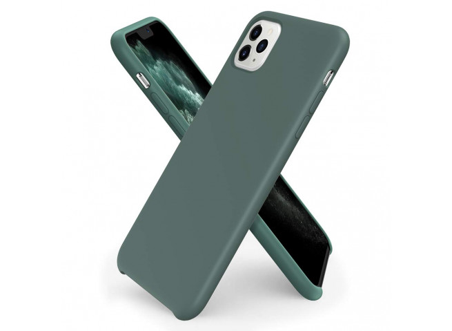 Coque iPhone 11 Silicone Gel-Vert Forêt