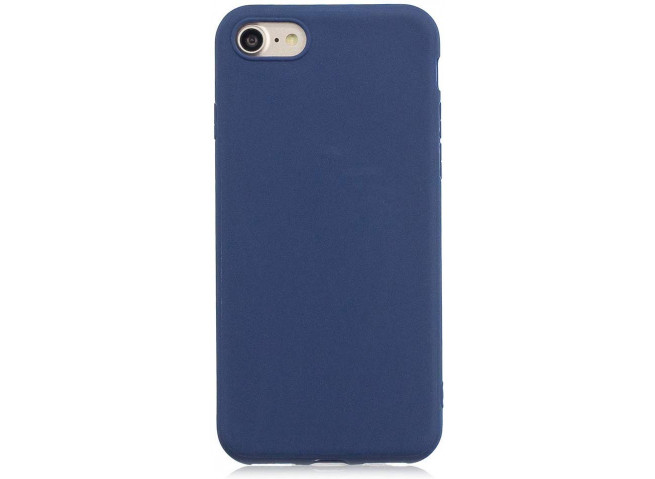 Coque iPhone 5/5S/SE Blue Navy Matte Flex