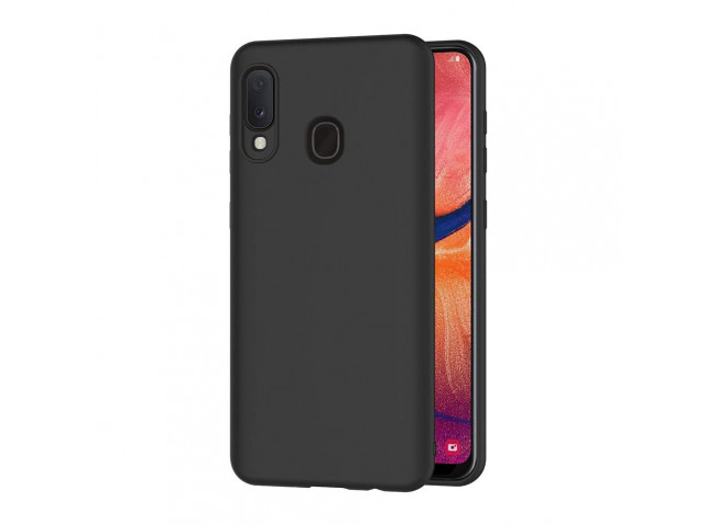 Coque Samsung Galaxy A20e Black Matte Flex