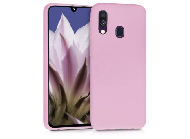 Coque Samsung Galaxy A20e Light Pink Matte Flex