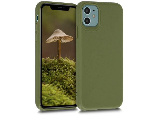 Coque iPhone XS Max Silicone Biodégradable-Vert Armée