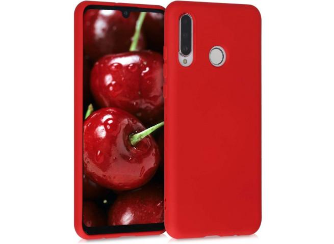 Coque Huawei P30 Lite Red Matte Flex