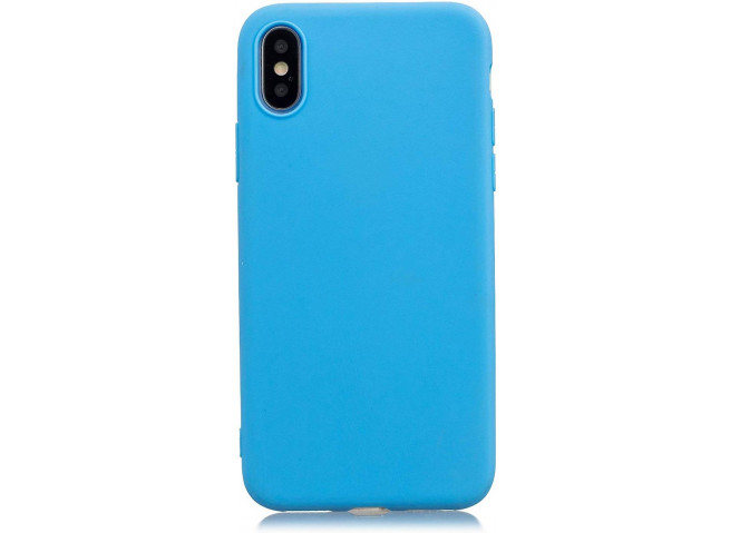 Coque iPhone XS Max Sky Blue Matte Flex
