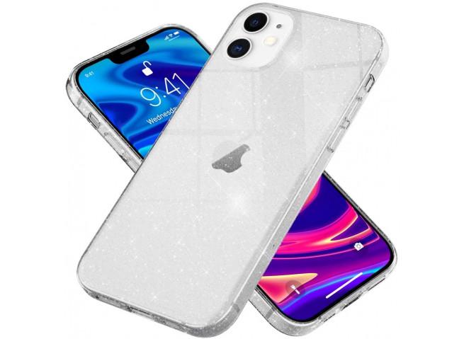 Coque iPhone 12/12 Pro No Shock Glitter Silver
