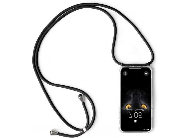 Coque Huawei P40 Lite Necklace Clear Shock + 1 tour de cou offert