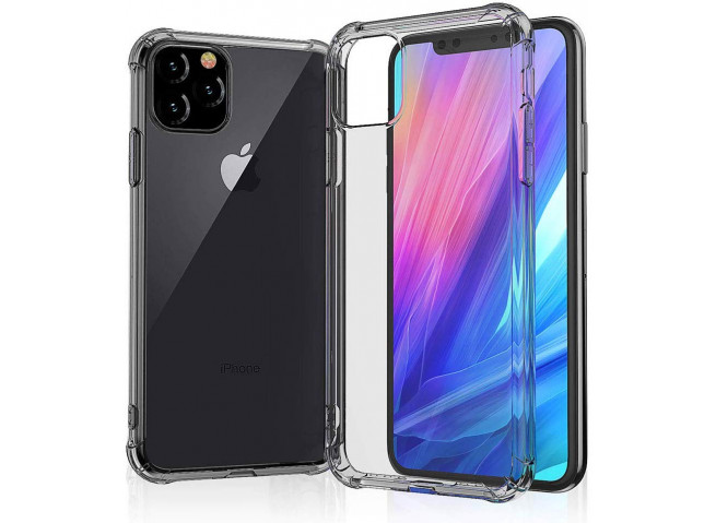 Coque iPhone 11 Black Clear Shock