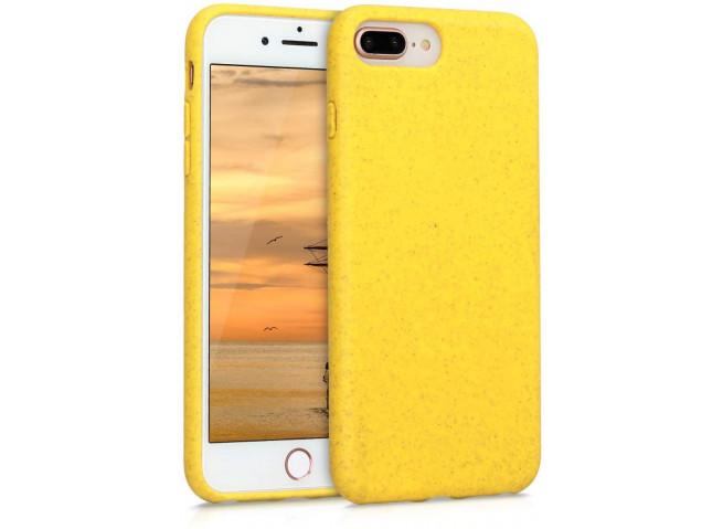 Coque iPhone 7 Plus/8 Plus Silicone Biodégradable-Jaune