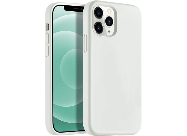 Coque iPhone 12/12 Pro Silicone Gel-Beige