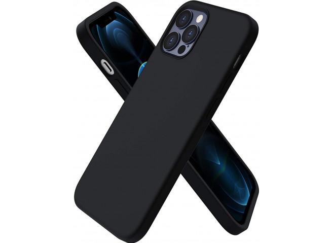 Coque iPhone 12 Mini Silicone Gel-Noir