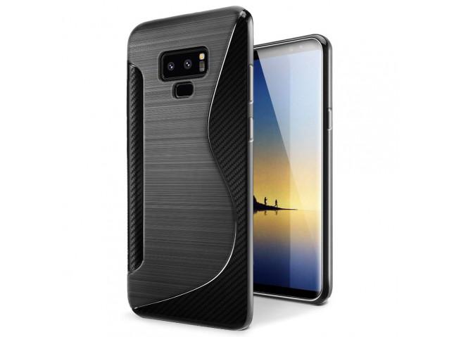 Coque Samsung Galaxy Note 9 Silicone Grip-Noir