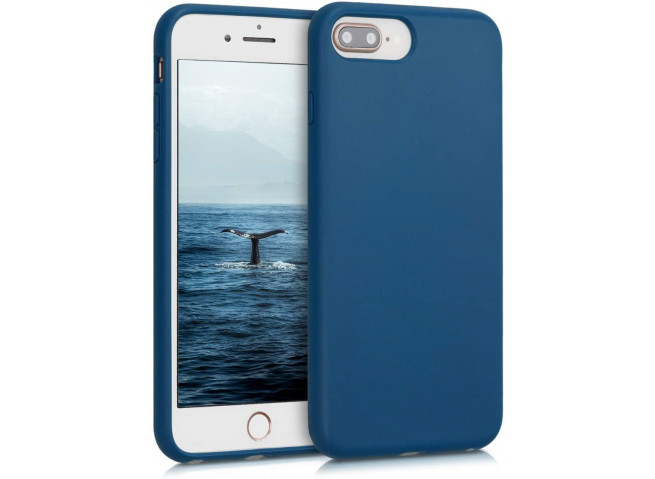 Coque iPhone 7 Plus/8 Plus Silicone Biodégradable-Bleu Marine