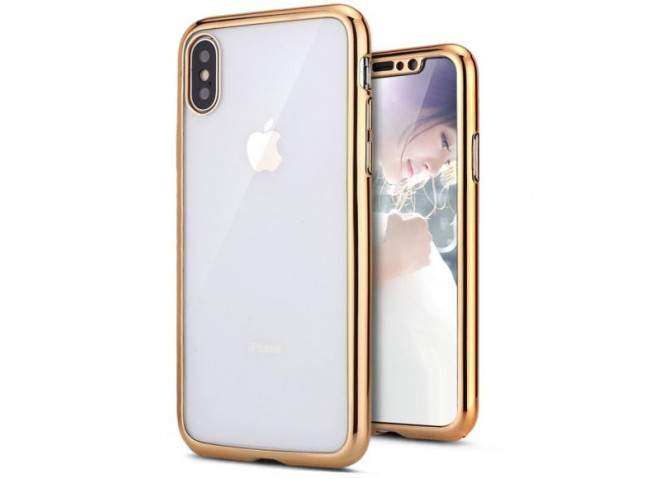 Coque iPhone XS Max Gold Flex