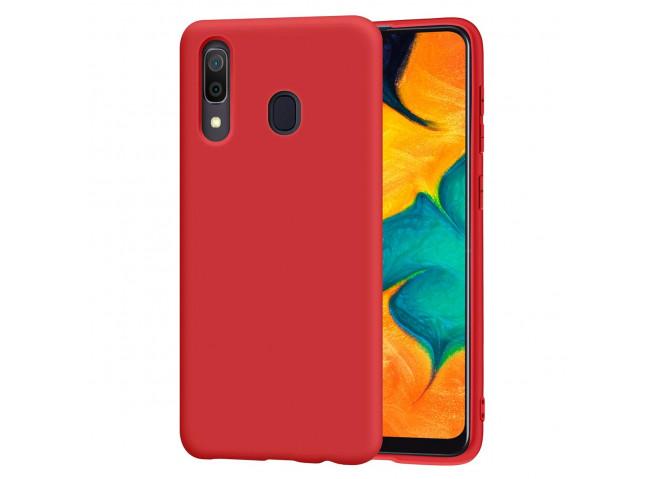 Coque Samsung Galaxy A30 Red Matte Flex