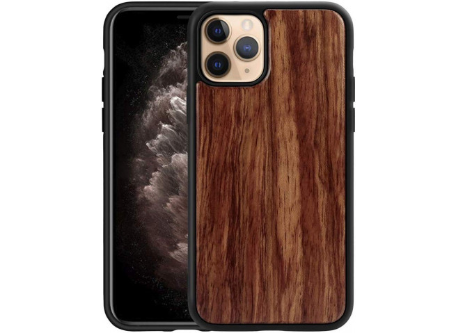 Coque iPhone 11 Pro Max Bois-Walnut