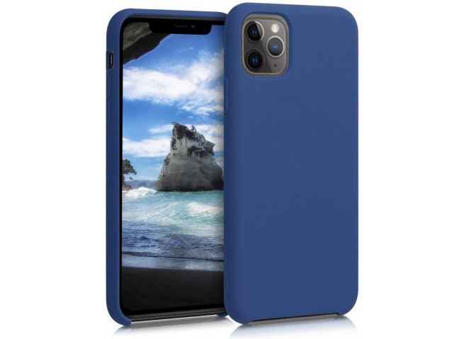 Coque iPhone 11 Pro Max Silicone Gel-Bleu Marine