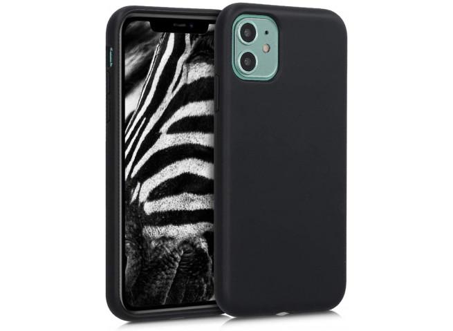Coque iPhone 12/12 Pro Silicone Biodégradable-Noir