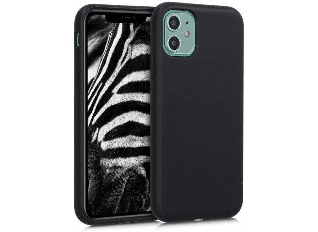 Coque iPhone 12 Mini Silicone Biodégradable-Noir