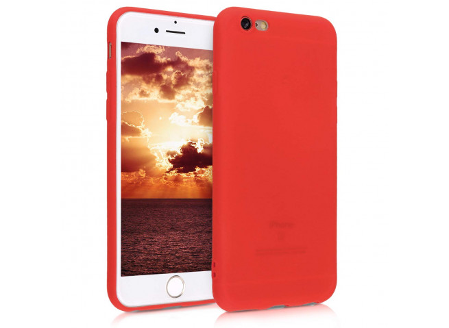 Coque iPhone 6 Plus/6S Plus Red Matte Flex